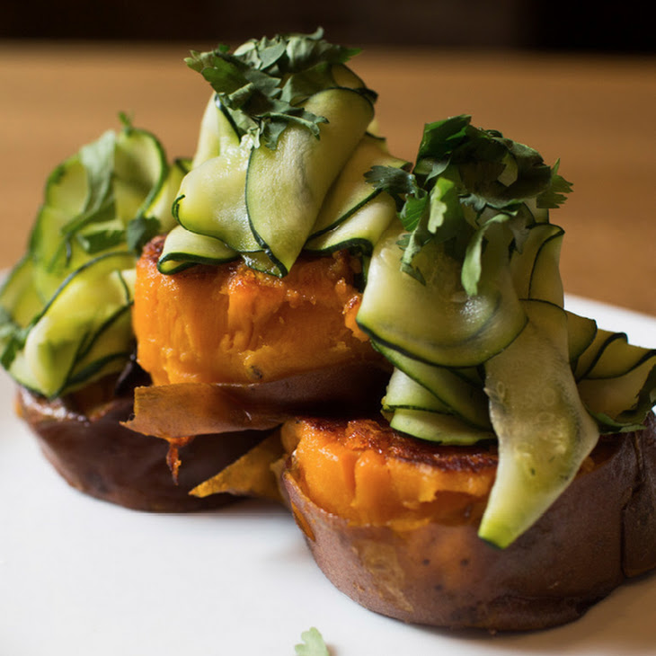 Sweet Potato with Pickled Zucchini Recipe
