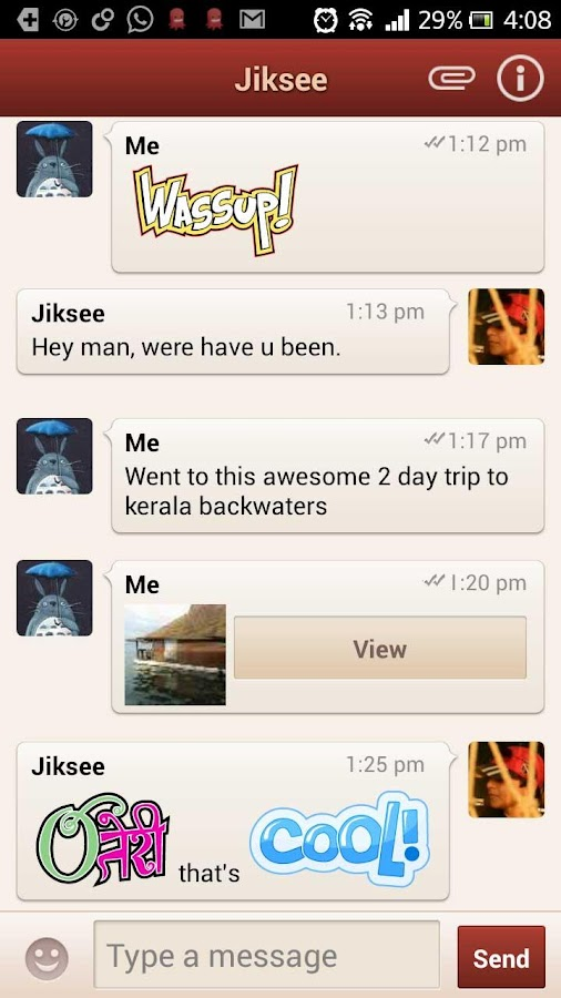 GupShup Messenger - screenshot