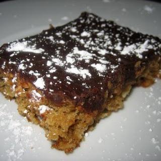 Chocolate Glazed Oatmeal Peanut Butter Bars.