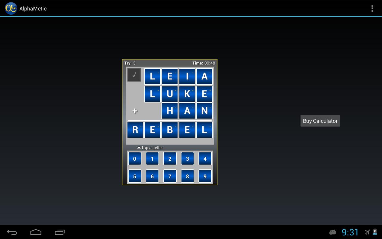 AlphaMetic- screenshot