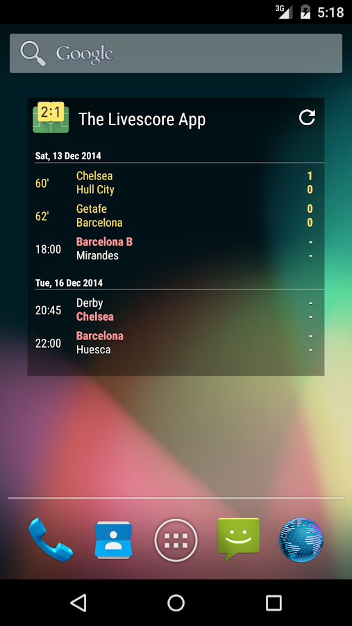 The Soccer Livescore App - screenshot