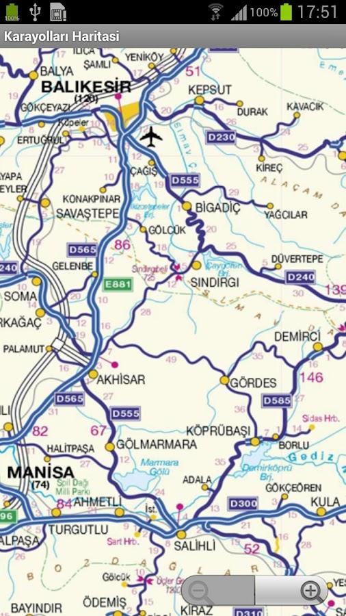 Karayolları Haritası- screenshot