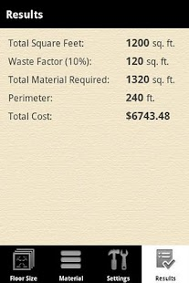 Flooring Calculator PRO- screenshot thumbnail