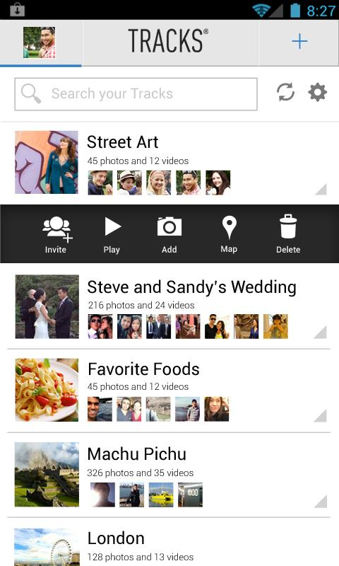 Tracks - Group Photo Sharing - screenshot