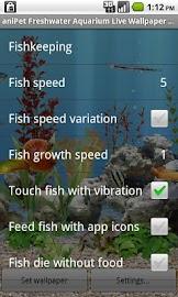 aniPet Freshwater Aquarium LWP Screenshot 2