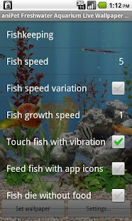 aniPet Freshwater Aquarium LWP - screenshot thumbnail