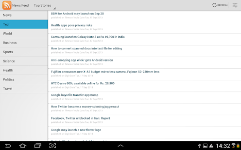 News Feed RSS Reader