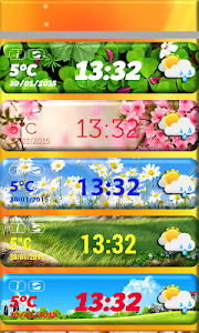 Spring Weather Clock Widget screenshot 1
