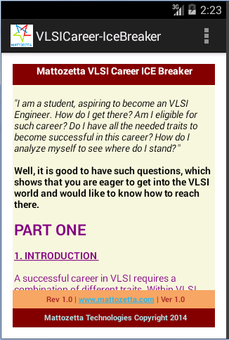 VLSI Career Ice Breaker