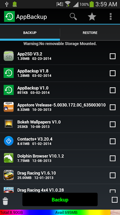 AppBackup-App Backup Restore - screenshot