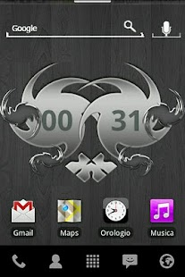 Silver Abstract Digital Clock - screenshot thumbnail