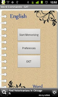 SAT vocabulary , word memory - screenshot thumbnail