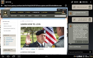 Screenshot of SGT STAR: Army's Virtual Guide