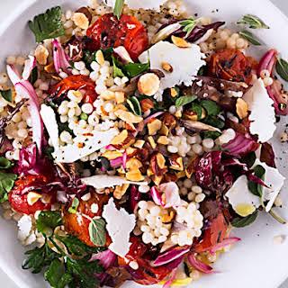 Israeli Couscous and Tomato Salad.