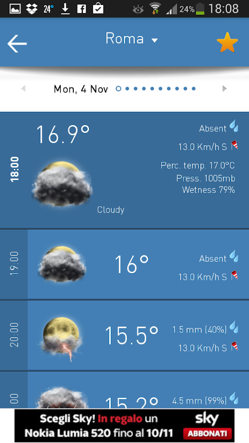 3B Meteo - Weather Forecasts - screenshot