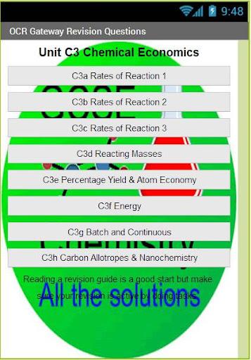 OCR GCSE Chemistry C3 Revision