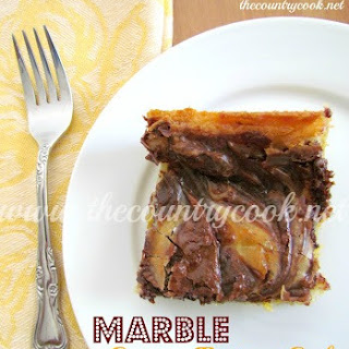 Chocolate Marble Gooey Butter Cake.