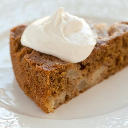Low-Fat Spice Cake with Maple Cream Recipe