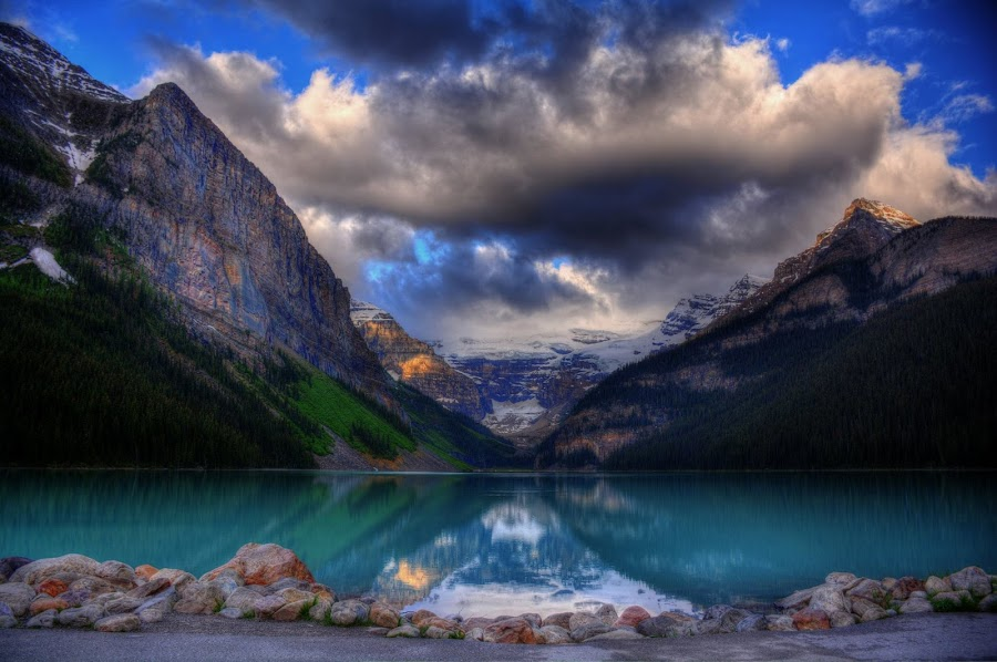 lake louise, alberta canada by Lorne Demoe - Landscapes Sunsets & Sunrises
