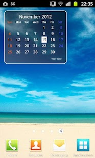 Year View Calendar Widget