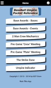 Baseball Umpire Pocket Ref - screenshot thumbnail