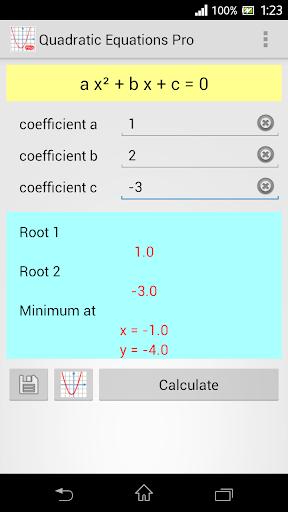 Quadratic Equation Pro