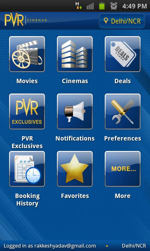 PVR Cinemas - screenshot