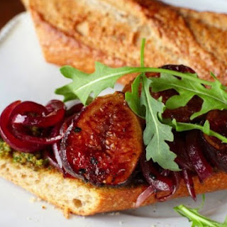 Grilled Fig Sandwiches With Roasted Pistachio Pesto.