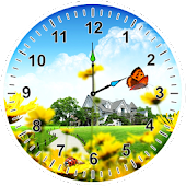 Springtime Analog Clock