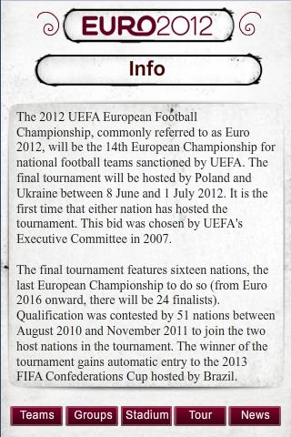 Euro 2012 - screenshot
