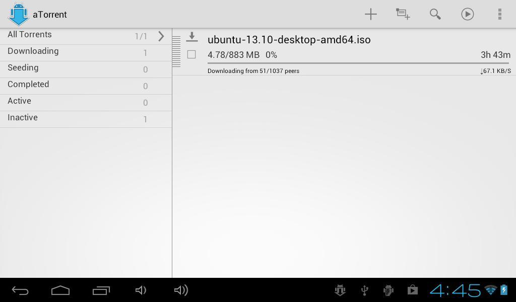 aTorrent - torrent downloader - screenshot