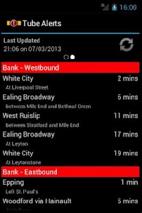 London Tube Alerts- screenshot thumbnail