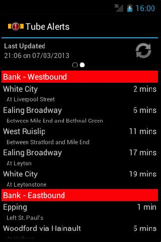 London Tube Alerts - screenshot