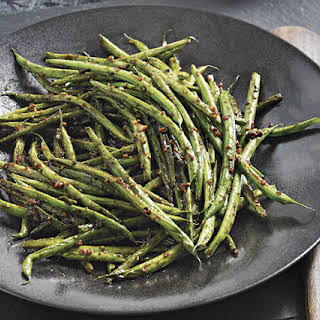 Stir-Fried Green Beans with Ginger and Black Bean Sauce.