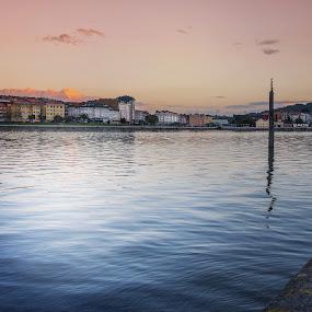 Ria del Burgo by Jose Rabina - Landscapes Waterscapes ( water, sunset, sunrise, landscape, river )