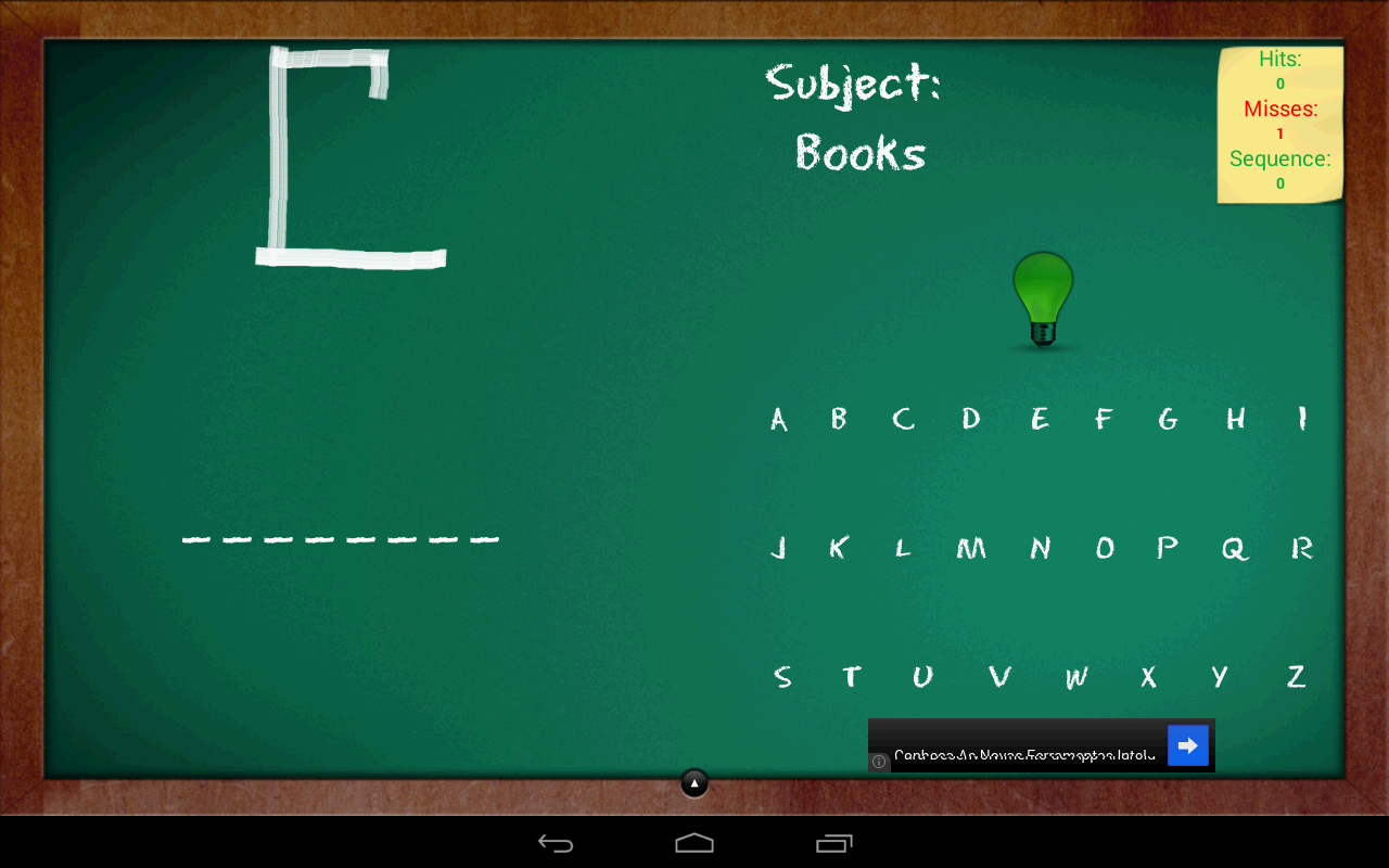 Hangman with Hints - Free - screenshot