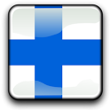 Finland Flag Clock Widget icon
