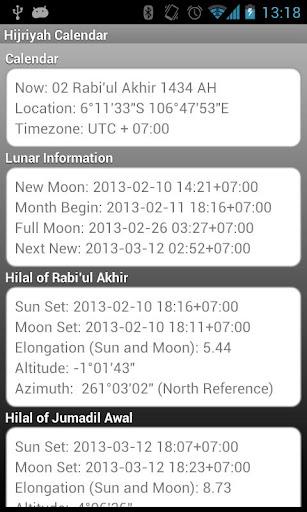 Hijriyah Islam Calendar Widget