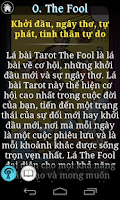 Screenshot of Tarot Việt