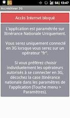 Accréditeur 3G pour(Free Mobile)