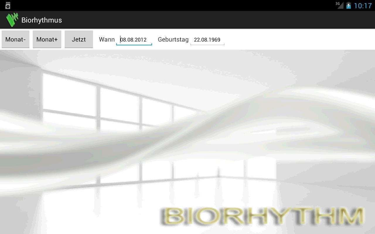 Biorhythmus- screenshot