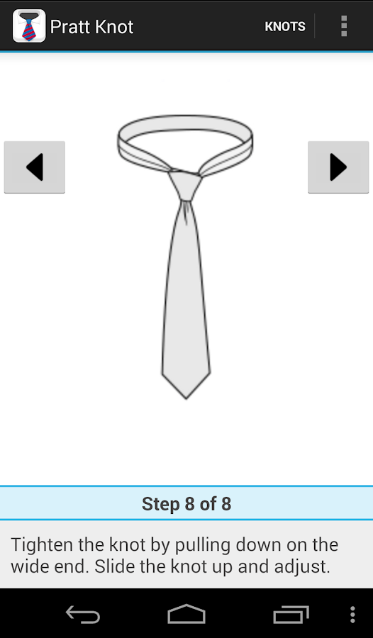 How to tie a tie- スクリーンショット