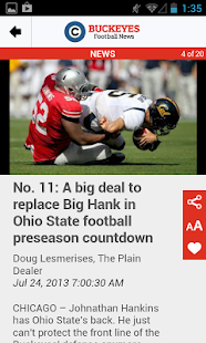 cleveland.com: OSU Football - screenshot thumbnail