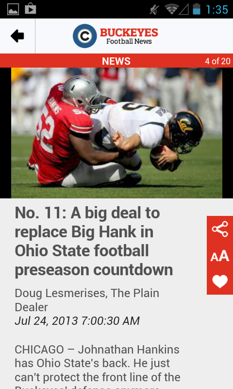 cleveland.com: OSU Football - screenshot
