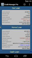 Screenshot of Credit Manager