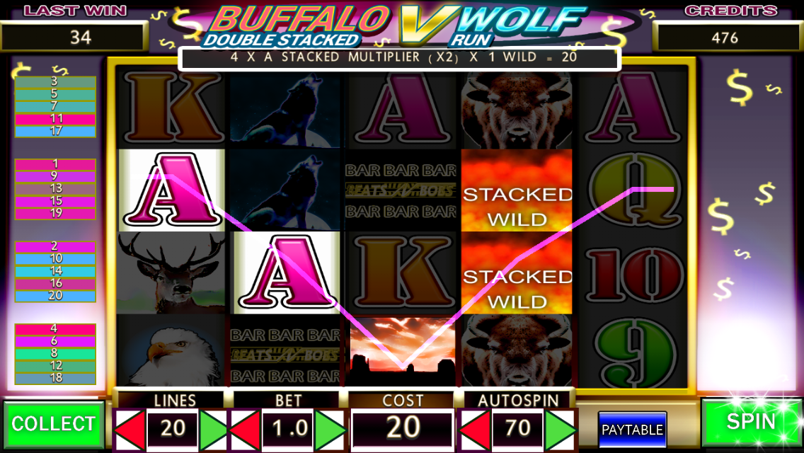 free slot games wolf run