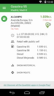 Gasoline and Diesel Spain- screenshot thumbnail