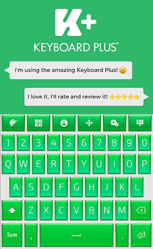 グリーンのHDキーボード