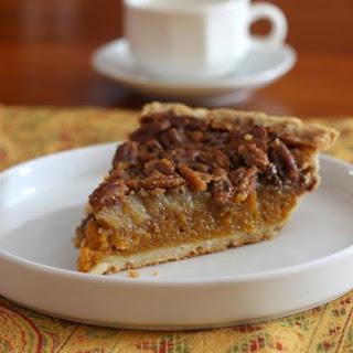 Classic Pumpkin Pecan Pie