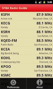 SFBA Radio Guide- screenshot thumbnail